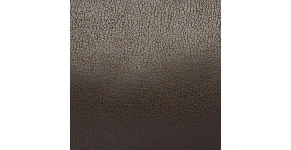 SCHWINGSTUHL in Metall, Textil Dunkelbraun, Edelstahlfarben - Edelstahlfarben/Dunkelbraun, Design, Textil/Metall (47/106/63cm) - Cantus