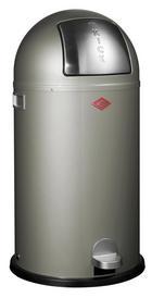 ABFALLSAMMLER KICKBOY 40 L - Edelstahlfarben/Silberfarben, Kunststoff/Metall (40/75,5cm) - Wesco