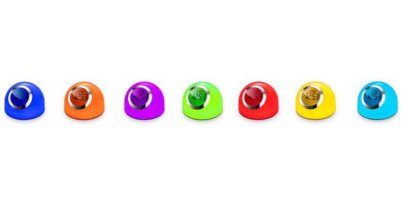 LED-Dekoleuchte Alyson - Chromfarben/Weiß, MODERN, Kunststoff/Metall (16,5/15,3cm) - Luca Bessoni