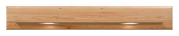 WANDBOARD Eiche furniert Eichefarben - Eichefarben, KONVENTIONELL, Holz (160/24,5/21,6cm) - Voleo