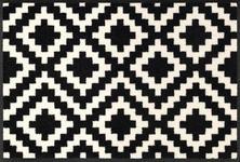 WEBTEPPICH  50/75 cm  Schwarz, Weiß   - Schwarz/Weiß, Basics, Kunststoff/Textil (50/75cm) - Esposa
