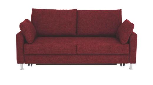 SCHLAFSOFA Webstoff Rot - Chromfarben/Rot, KONVENTIONELL, Textil/Metall (186/90/95cm)