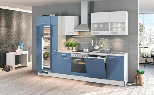 KÜCHENBLOCK 310 cm - Blau, Design (310cm) - Stylife