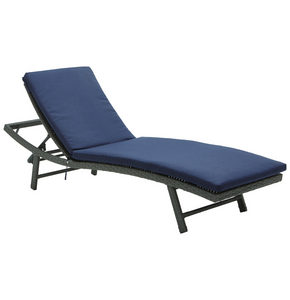BAŠTENSKA LEŽALJKA - Tamnosiva/Plava, Moderno, Tekstil/Plastika (61/41/178cm) - Ambia Garden