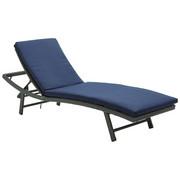 LEŽALJKA VRTNA - tamno siva/plava, Moderno, metal/tekstil (61/41/178cm) - Ambia Garden