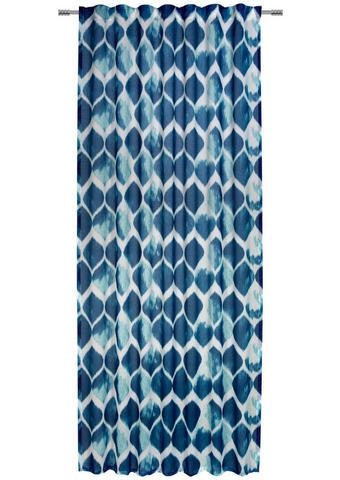 FERTIGVORHANG halbtransparent  - Türkis, KONVENTIONELL, Textil (135/245cm) - Esposa