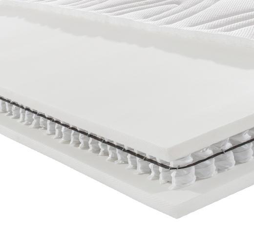 Partnermatratze Taschenfeder ORTHO STAR PREMIUM T 200/200 cm - Weiß, KONVENTIONELL, Textil (200/200cm) - Novel
