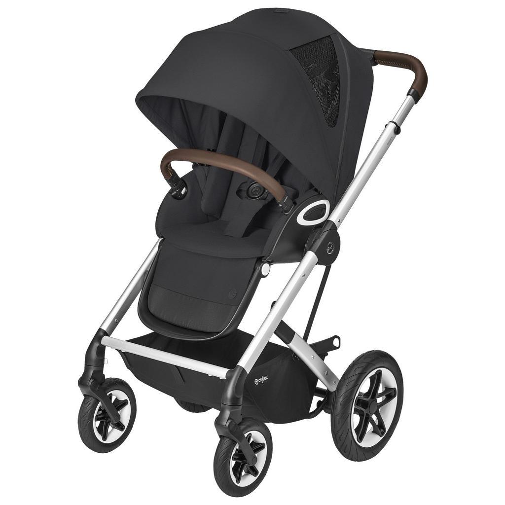 Image of Cybex Buggy 2020 , 520001489 , Schwarz , Textil , 11,41 Zoll , 62x112x92.5 cm , Feststellbremse, Federung, für Babyschale geeignet, Sitz umsetzbar, Einhand-Faltmechanismus , 006895001901