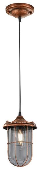 HÄNGELEUCHTE - Kupferfarben, LIFESTYLE, Metall (14,5/150cm)