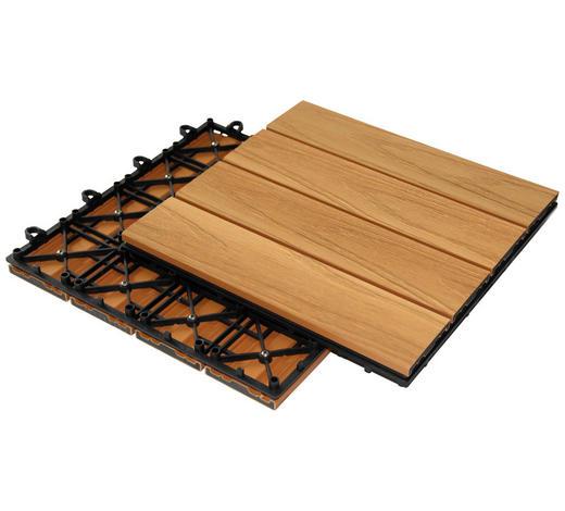 DLAŽDICE NA TERASU - hnědá, Konvenční, kompozitní dřevo (30/30/2,4cm) - Ambia Garden