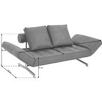 SCHLAFSOFA in Metall, Textil Blau - Chromfarben/Blau, Design, Textil/Metall (210/68/90cm) - Innovation