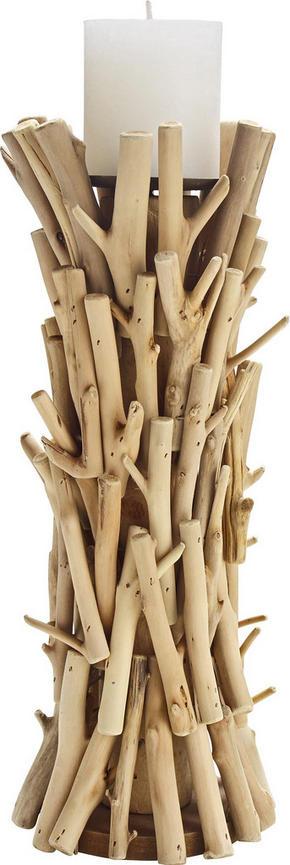 LJUSSTAKE - furufärgad, Natur, trä (14/36cm) - Ambia Home