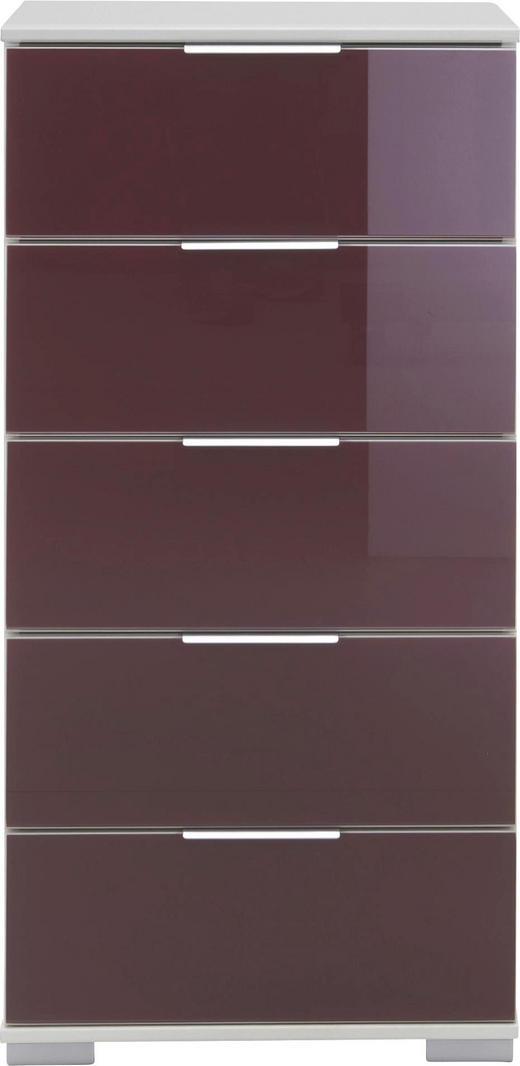 KOMMODE 49 102 41 cm - Brombeere/Alufarben, Design, Glas/Holzwerkstoff (49 102 41cm) - Carryhome