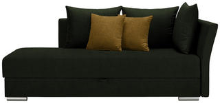 LIEGE in Textil Gelb, Dunkelgrün - Chromfarben/Dunkelgrün, Design, Kunststoff/Textil (220/93/100cm) - Xora