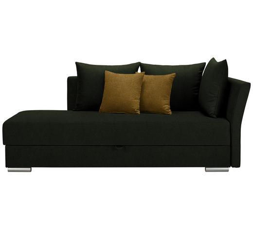 LIEGE Webstoff Gelb, Dunkelgrün  - Chromfarben/Dunkelgrün, Design, Kunststoff/Textil (220/93/100cm) - Xora