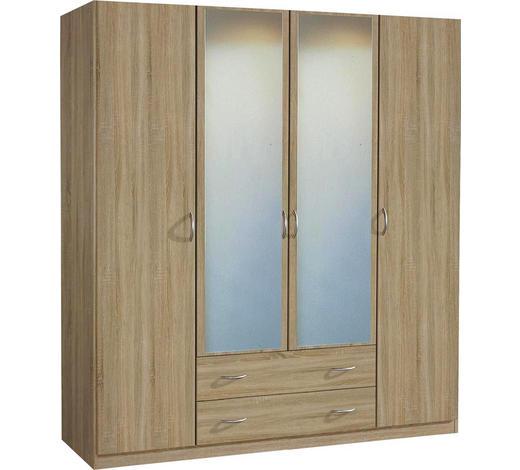 SKŘÍŇ, Sonoma dub - Sonoma dub/barvy hliníku, Konvenční, dřevo/kompozitní dřevo (181/197/54cm) - Boxxx