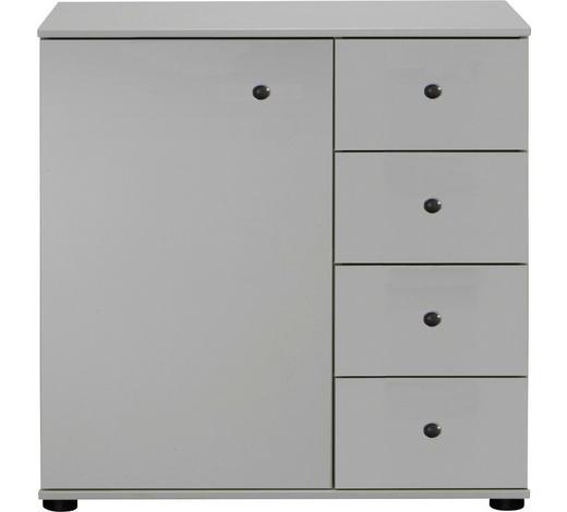 KOMMODE 81/83/41 cm  - Schwarz/Weiß, KONVENTIONELL, Holzwerkstoff/Kunststoff (81/83/41cm) - Cantus