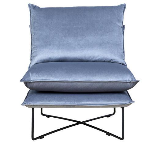 SESSEL in Textil Grau - Schwarz/Grau, Design, Textil/Metall (72/84/90cm) - Hom`in