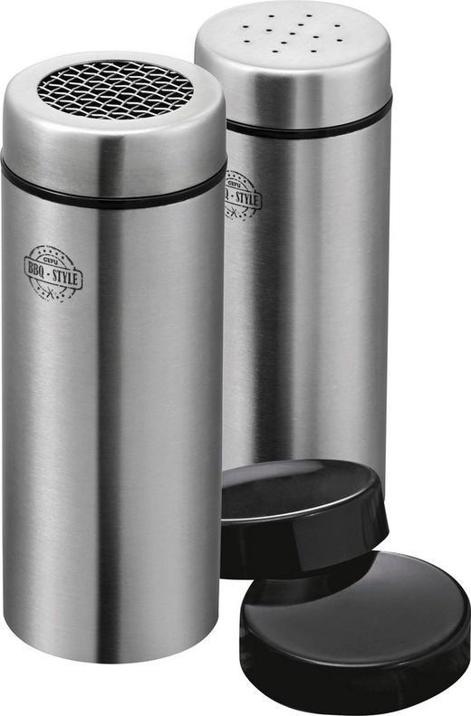 GEWÜRZDOSENSET - Edelstahlfarben, Basics, Kunststoff/Metall (5/12,5cm) - Gefu