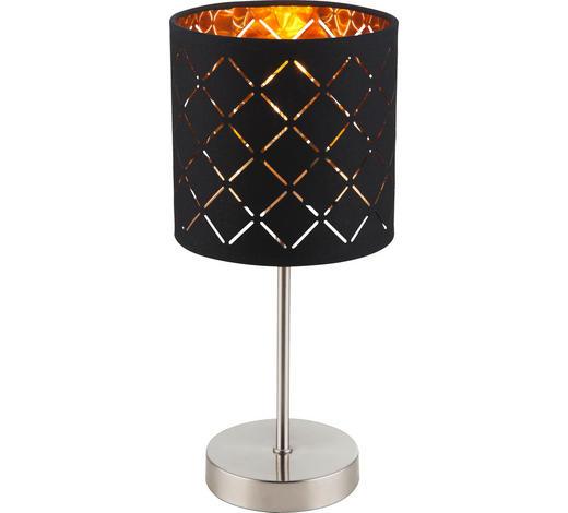 LAMPA STOLNÍ - černá/barvy zlata, Lifestyle, kov/textil (15/35cm)