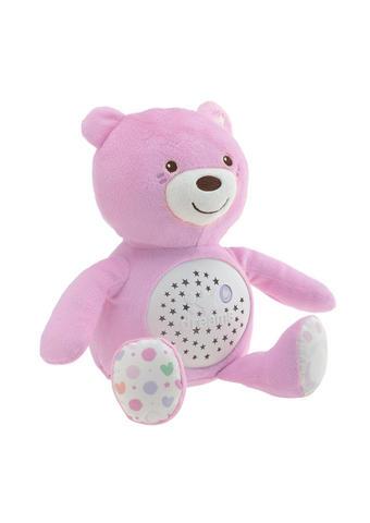 NOČNA LUČKA ROZA BABY MEDO - roza/bela, Basics, umetna masa/tekstil (20,3/31/25cm) - Chicco