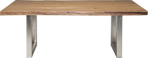 ESSTISCH Akazie massiv Akaziefarben - Akaziefarben, LIFESTYLE, Holz/Metall (195/110/77cm) - Kare-Design