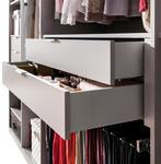 SCHUBKASTENEINSATZ für 100er Elemente Grau, Silberfarben - Silberfarben/Grau, Design (100/29/45cm) - Hom`in