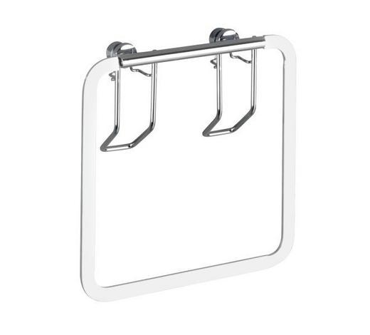 HANDTUCHHALTER  - Edelstahlfarben, Basics, Metall (17/17/4cm)