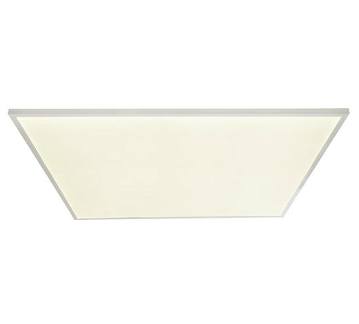 LED-PANEEL - Opal/Weiß, Design, Kunststoff/Metall (100/100/6,5cm)