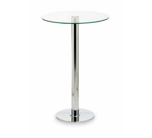 BARTISCH in Metall, Glas  70/108 cm - Klar/Chromfarben, Design, Glas/Metall (70/108cm)