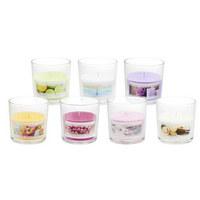 SVÍČKA VE SKLE - růžová/průhledná, Basics, sklo (10/10cm) - Ambia Home
