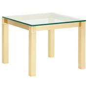 COUCHTISCH in Glas, Metall 60/60/48 cm - Messingfarben, Design, Glas/Metall (60/60/48cm) - Venda