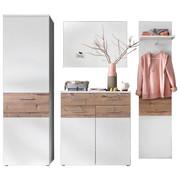 GARDEROBE - Fichtefarben/Weiß, Design, Glas/Holzwerkstoff (215/193/41cm) - XORA