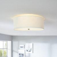 DECKENLEUCHTE - Weiß, Design, Glas/Textil (47,5cm) - NOVEL