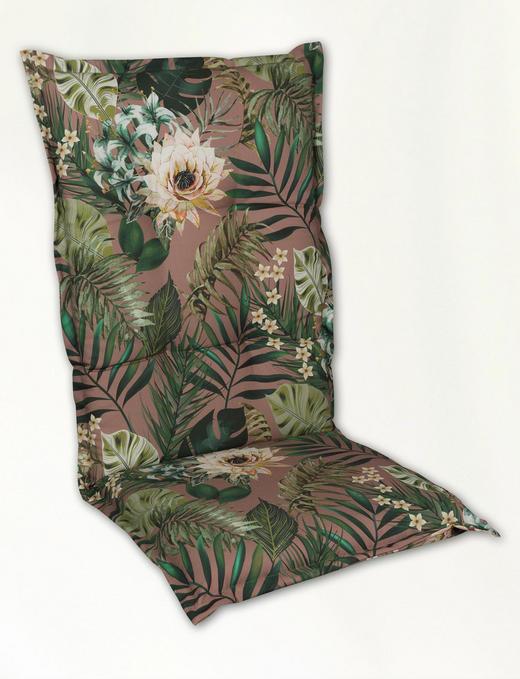 SESSELAUFLAGE in Multicolor Blume - Multicolor, Design, Textil (48/118/4cm)