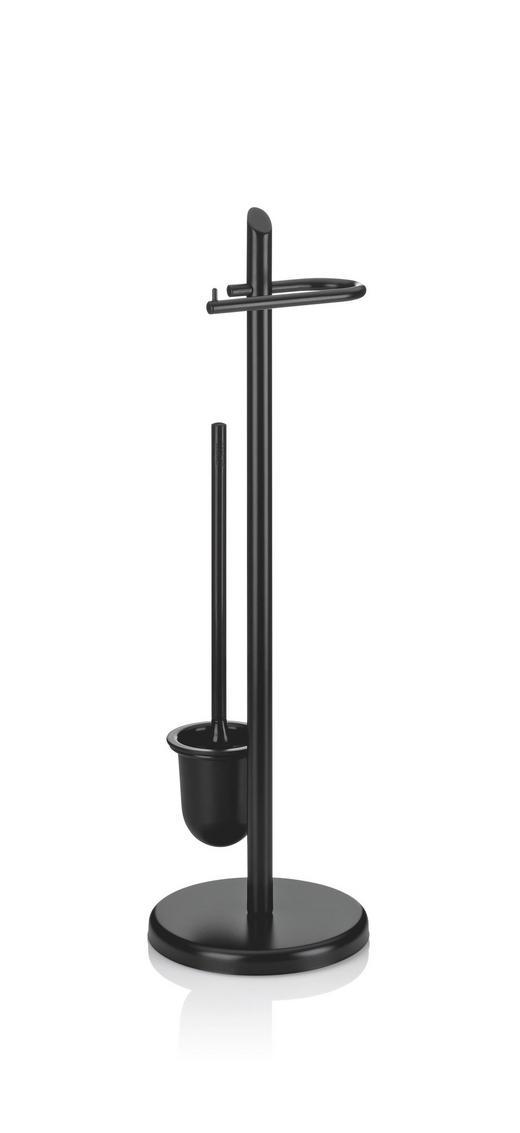 WC-BÜRSTENKOMBINATION - Schwarz, Basics, Kunststoff/Metall (73cm) - Kela