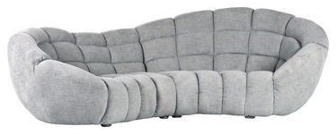 MEGASOFA in Textil Hellblau  - Silberfarben/Hellblau, Design, Holz/Textil (310/103/170cm) - Carryhome