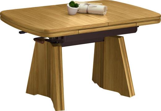 COUCHTISCH in Eichefarben - Eichefarben, KONVENTIONELL, Holzwerkstoff/Metall (90(130,5)/65/54-73cm) - Venda