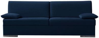 SCHLAFSOFA in Textil Blau  - Chromfarben/Blau, KONVENTIONELL, Textil/Metall (220/88/90cm) - Novel