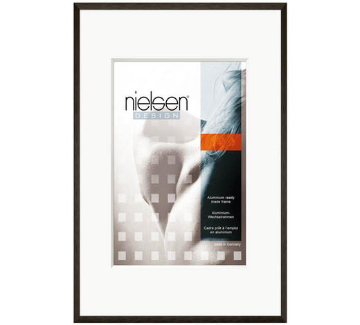 BILDERRAHMEN  Schwarz - Schwarz, Basics, Glas/Metall (13/18cm) - Nielsen
