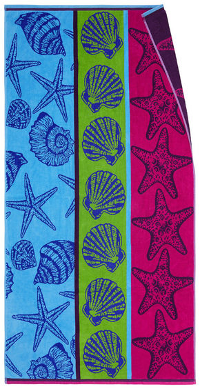 STRANDHANDDUK - grön/blå, Klassisk, textil (90/180cm) - Esposa