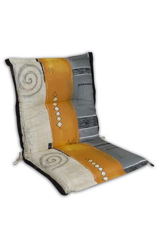SESSELAUFLAGE Streifen - Anthrazit/Naturfarben, Design, Textil (50/100/9cm)