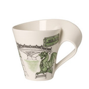 Lonček za kavo Ljubljana - zelena/bela, Basics, keramika (0,300l) - Villeroy & Boch