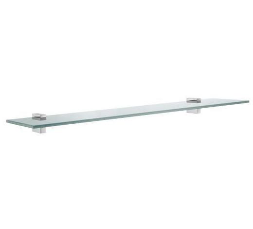 BADEZIMMERKONSOLE 60/4,7/14,5 cm - Basics, Glas/Metall (60/4,7/14,5cm)