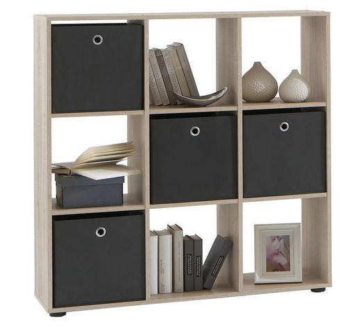 REGAL - boje hrasta/crna, Design, drvni materijal/plastika (104,5/108,5/33,0cm) - Boxxx