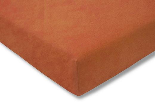 SPANNBETTTUCH Terra cotta bügelfrei - Terra cotta, Basics, Textil (150/200cm) - Estella