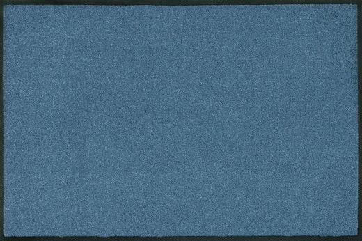 FUßMATTE 60/180 cm Uni Blau - Blau, Basics, Kunststoff/Textil (60/180cm) - Esposa