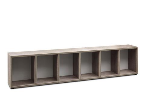 BETTREGAL in Eichefarben, Weiß - Eichefarben/Weiß, KONVENTIONELL, Holzwerkstoff (207,2/46,5/30cm) - Xora
