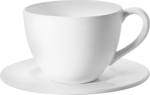 KAFFEETASSE MIT UNTERTASSE - Weiß, Basics, Keramik (0,3l) - ASA