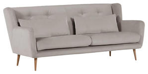 2,5-SITZER in Textil Grau  - Dunkelgrau/Naturfarben, Design, Textil (205/86/90cm) - Carryhome